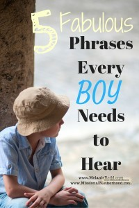 Are you raising boys? Here are some wise tips and encouraging suggestions for how you can speak to your sons.