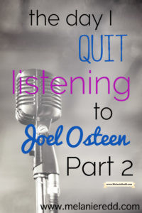 Is the ministry and message of Joel Osteen false or true? Yes, he's a positive inspiration, but is he biblical? Should you believe in and support what he is teaching? Find out why I have stopped listening to him and why you may want to do the same.