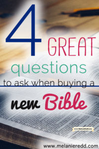 There are many different types of Bibles. How do you know which Bible to purchase when you want to buy a new one? Here's a post that gives you practical step by step instruction along with TWO FREE printables.