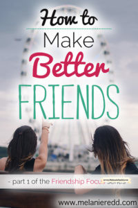 Good friends are not necessarily easy to come by. Real, honest, faithful friends are something all of us desire to have. How can we make better friends? How can we improve and deepen our relationships? Here are some very practical suggestions.