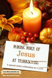 As we round the corner and start heading toward Thanksgiving, it's a great time to think about your plans. What are you doing this year to keep Christ at the center of your Thanksgiving festivities? Here are some easy ideas for you to use with your family as you seek to focus on Jesus more this year.