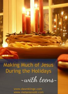 We can use the holidays as an opportunity to be a light in the world for Jesus and we can lead our kids, through our example, in what this looks like. Here are some practical and useful ways to help your teenagers to focus more on Christ during these holidays.